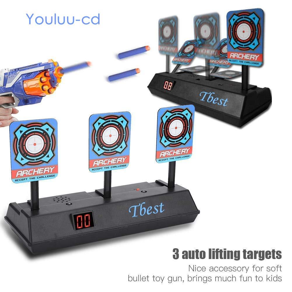 Pistola de Juguete Objetivos de Tiro eléctrico práctica, Pistola de Juguete para niños Electric Target Disparo de Tiro Bullet Stand para Nerf Gun Toys Soft ...