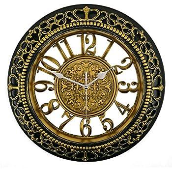 Foxtop 12 Inch Silent Decorative Wall Clocks Vintage Retro Antique Royal  Style Clock Hollow Design,