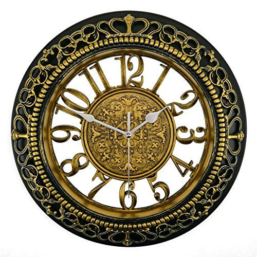 Foxtop Retro Non Ticking Quartz Decorative Wall Clock