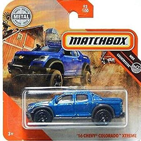 Matchbox 16 Chevy Colorado Xtreme MBX Countryside 93/100: Amazon.es: Juguetes y juegos