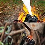 RUIMX Outdoor Fire Starter Series Waterproof LED Tactical Flashlight with Arc Lighter and Adjustable Focus Beam Self Defense Attack Head (1200LM, 18650 Battery and Bike mount Included)