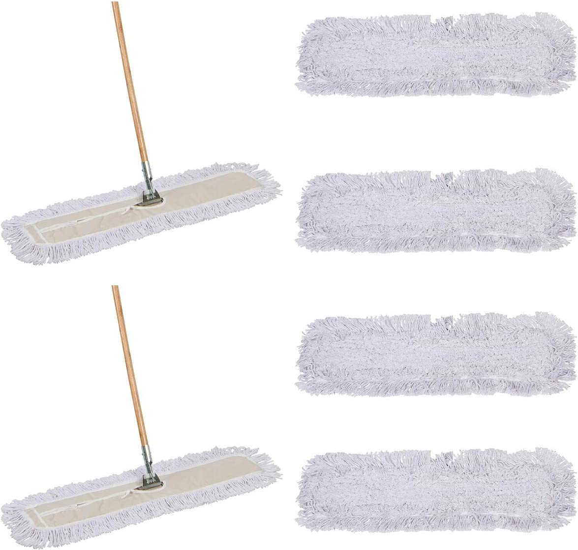 30 X 5 Wide Mop Head with Cut Ends Tidy Tools 30 Inch Cotton Dust Mop 63 Inch Wood Handle