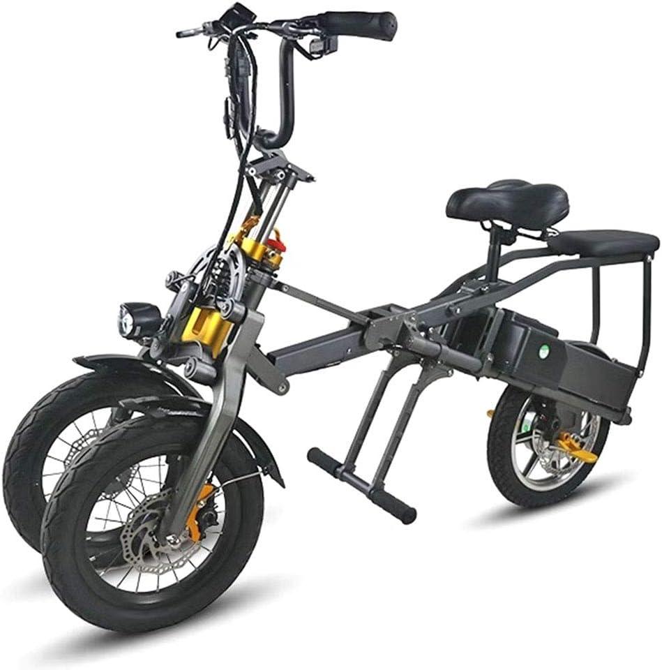 三輪折りたたみ式電気自動車、36V 10.4AHリチウム電池折りたたみ式電気自動車、アルミ合金ボディ。