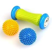 TIMESETL Fußmassageroller für Plantarfasziitis - Muskel Hand Fuß Massage Roller Ball mit Noppen - Leicht tragbar, Schmerzlinderung für Hacken Fußgewölbe, Stressreduzierung und Entspannung durch Triggerpunkt-Therapie