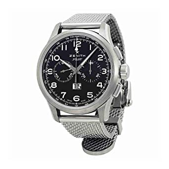 e654541fa14 Image Unavailable. Image not available for. Color  Zenith Men s  0324104010.21M Pilot Big Date Special Analog Display Swiss Automatic Silver  Watch