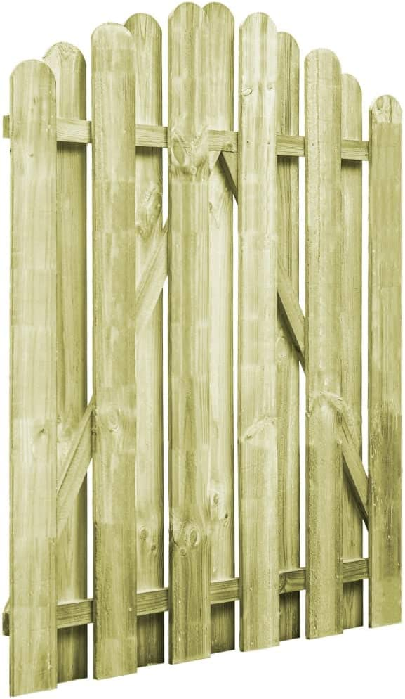 L x H Garten Holztor Gartentor Gartenzaun-Tor Eingangstor aus Kiefernholz //150 x 120 cm Tidyard 2 Pfahl-Gartentore gr/ün impr/ägniert L x H Pfahltoren Zauntore Zauntor 150 x 100 cm