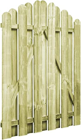 Tidyard Puerta de Madera para Jardín con Diseño Arqueado,Puerta para Valla Verja para Jardín o Patio,Resistente a la Intemperie y a la Putrefacción,Madera de Pino Impregnada FSC 100x125cm: Amazon.es: Hogar