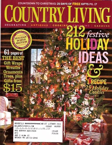 Country Living - Dedember 2007 (Volume 30 Number 12) (Christmas Living Country Cookies)