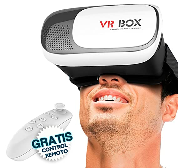 Lentes Realidad Virtual 3d Vr Box Control Remoto Bluetooth Amazon
