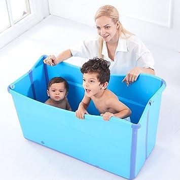 Bañera plegable para adultos, bañera para niños en el hogar ...
