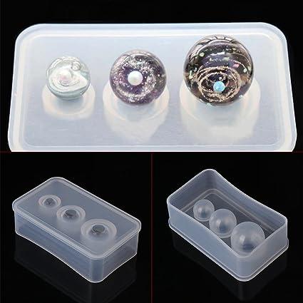 Molde de silicona con espejo para hacer collares y pulseras, bricolaje, joyería, decoración