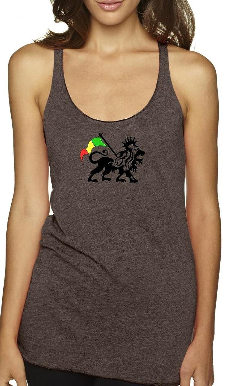 Yoga Clothing For You Ladies Rasta Lion Racerback Tank Top