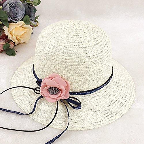 Cap 22013 (ALWLj Summer Beach Hat Sun Hat Sun Hat Outdoor Shading,White)