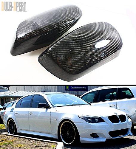 CARBON FIBER SIDE MIRROR COVER CAPS OVERLAY FOR 2004-2010 BMW E60 E61 5 (E60 Carbon)
