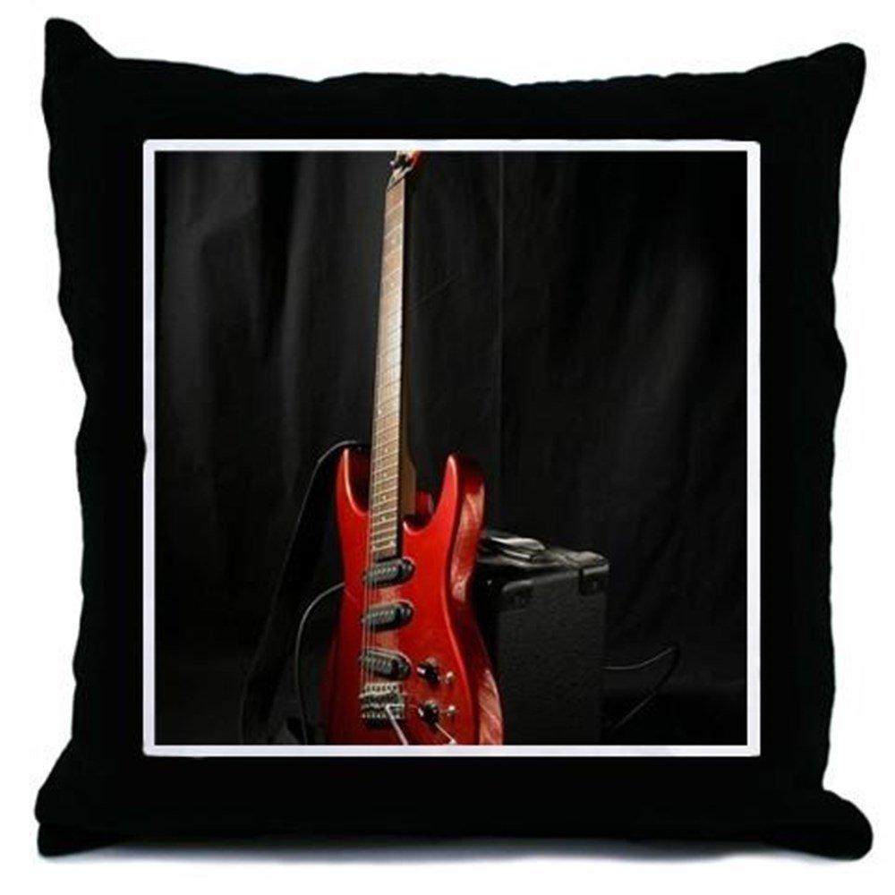 CafePress - Guitarra eléctrica - Manta Almohada, decorativo Accent almohada: Amazon.es: Hogar