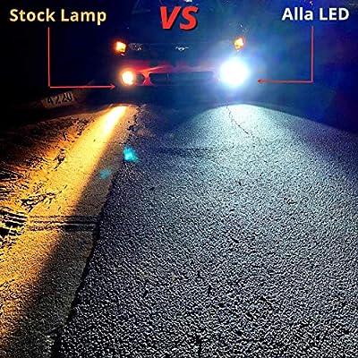 Alla Lighting 889 881 LED Fog Lights Bulbs Newest 3000lm Extreme Super Bright 898L, 6K Xenon White: Automotive