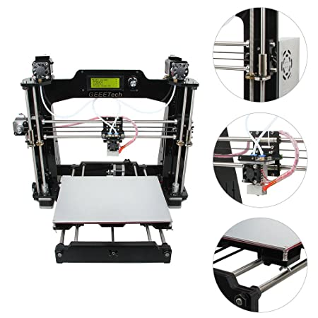 Geeetech Impresora 3D DIY Equipo I3 M201 2-In-1-Out Doble Extrusora Color Mixto 0.4Mm Boquilla: Amazon.es: Bricolaje y herramientas