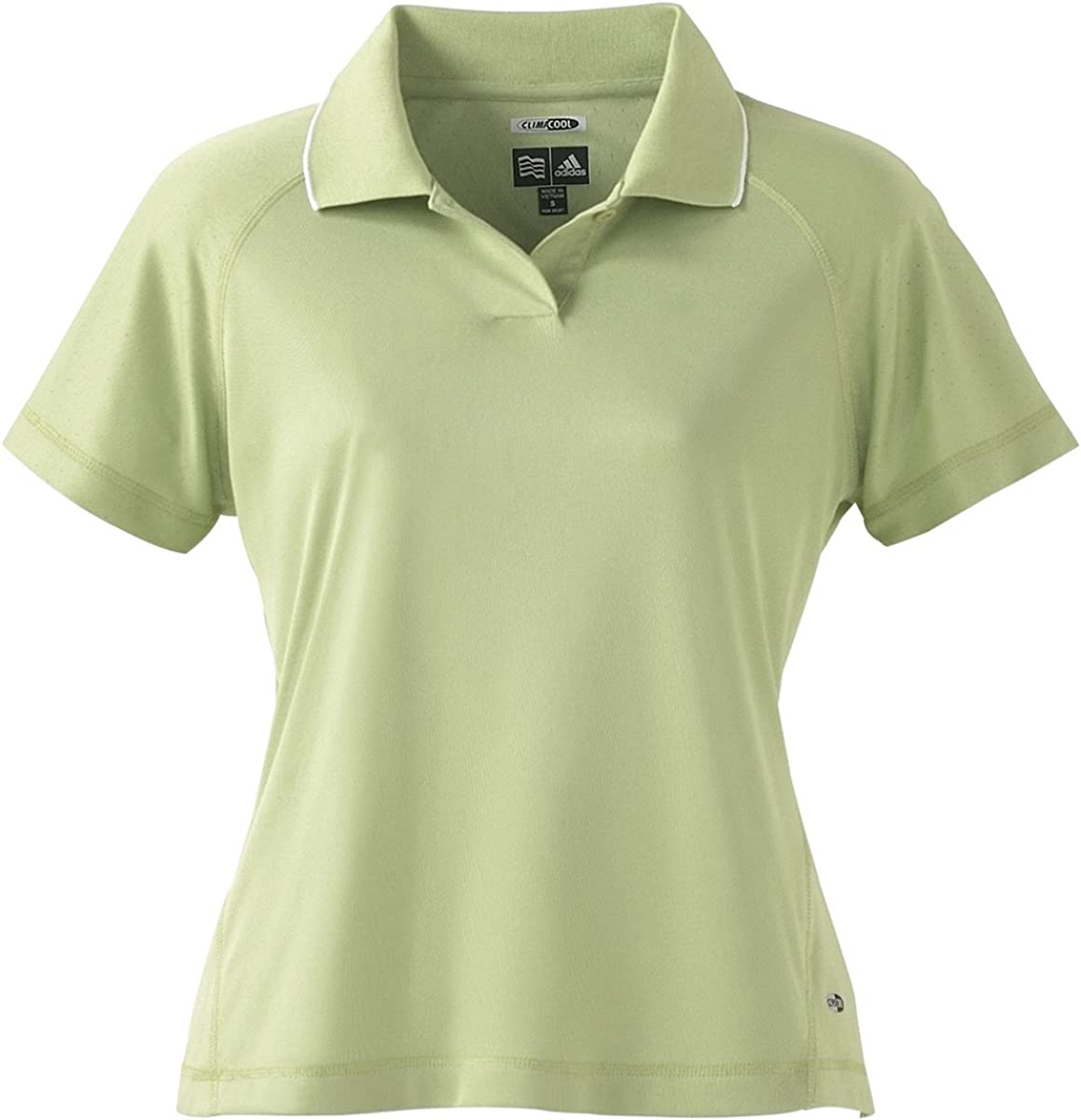 A09 - Large - Apple/white ClimaCool Ladies Mesh Polo