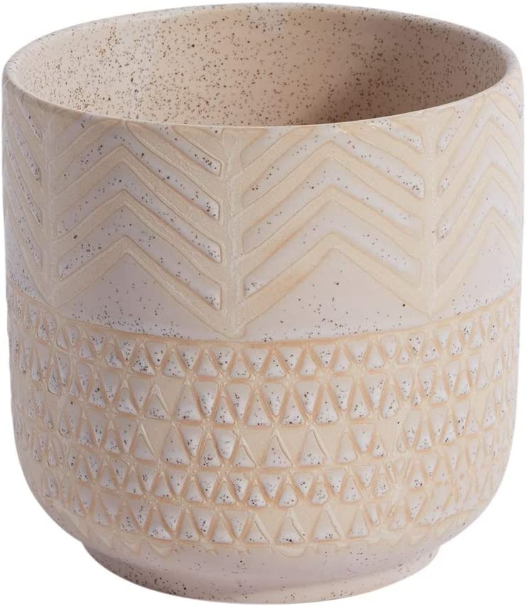 Decorative Ceramic Indo Pot l Wedding Decoration l Valentines Day l Modern Vase Decor for Home or Office l Indoor and Outdoor Planter for Any Event Decorations (5.25
