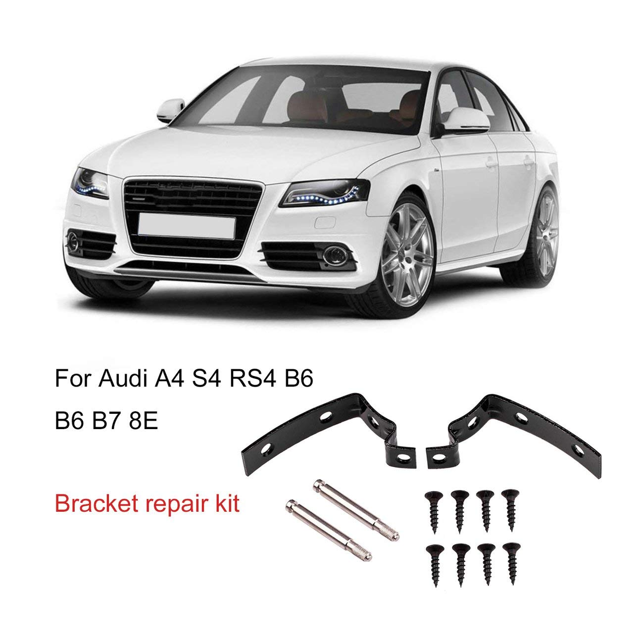 de la Herramienta de reparaci/ón Tapa de la guantera 2002-2008 WOSOSYEYO Bisagra Soporte del Coche Kit de reparaci/ón de Tapa articulada Universal para Audi A4 S4 RS4 8E B6 B7