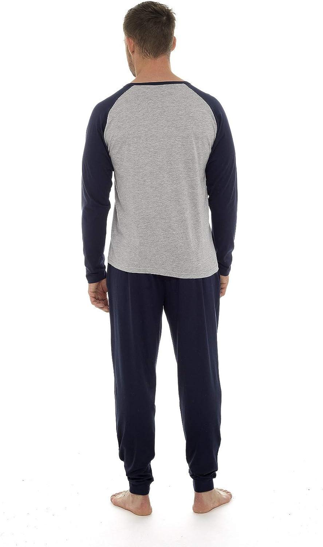 Set Pigiama Due Pezzi da Uomo Maniche Lunghe Pantaloni Lunghi Completino Casual per Casa CityComfort Pigiama Uomo Lungo 100/% Cotone