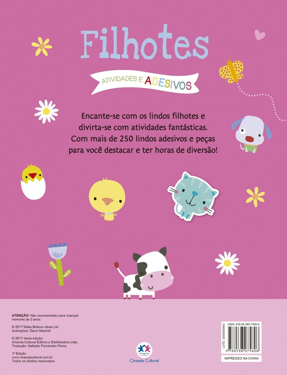 ad0fbb9cb03 Filhotes  com Mais de 250 Adesivos e Peças Para Destacar! - 9788538075806 -  Livros na Amazon Brasil