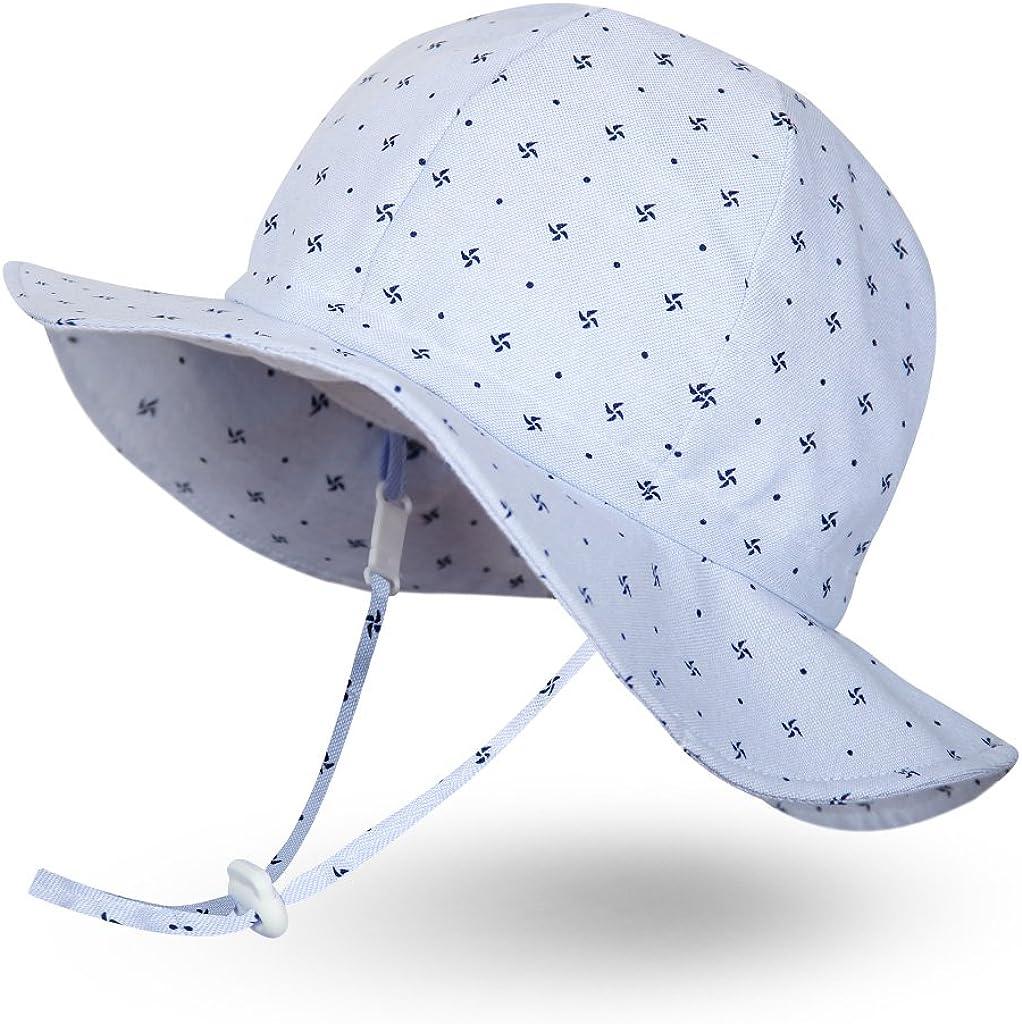 Ami/&Li tots Gar/çon Chapeau de Soleil R/églable Large Bord Chapeau Protection Solaire UPF 50 pour B/éb/é Fille Gar/çon Nourrisson Enfants Tout-Petit Unisexe
