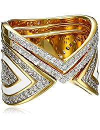 nOir Jewelry Gold-Tone Gelato Stackable Ring