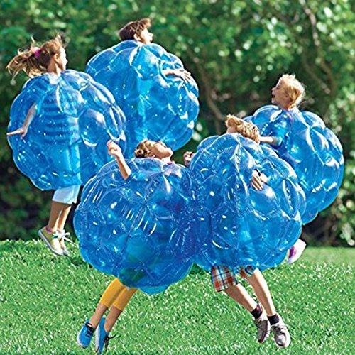"Toyofmine (2-Pack) Wearable Inflatable Bumper Balls 36"" - Bubble Soccer Suits with 1 Air Pump - Blow Up Toy in 5 Min. Boy Girl Outdoor Game"
