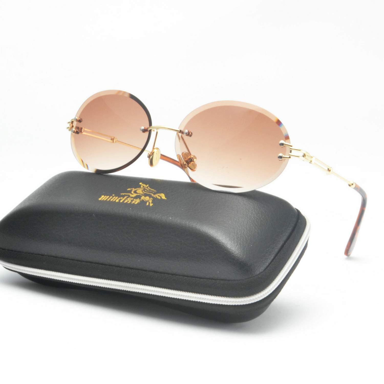 2019 new diamond cut retro oval ladies crystal texture without border brand designer sunglasses