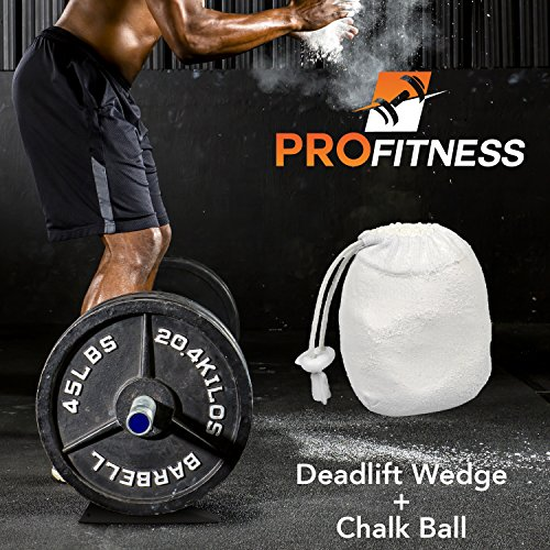 ProFitness-Deadlift-Wedge-Superior-Jack-Alternative--Load-Unload-Weightlifting-Barbells-with-Round-Plates-Effortlessly--Lightweight-Compact-Gym-Bag-Size--Cross-Training-Powerlifting-Fitness