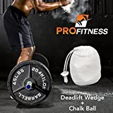 ProFitness Deadlift Wedge (Superior Jack Alternative) - Load & Unload Weightlifting Barbells with Round Plates Effortlessly - Lightweight, Compact Gym Bag Size - CrossFit, Powerlifting, Fitness