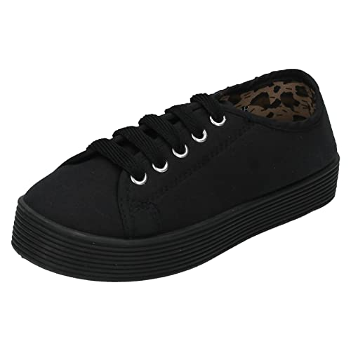 Spot On Girls Casual Canvas Pumps