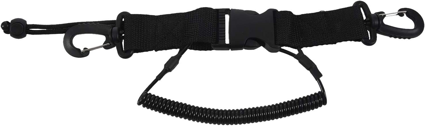 Moligh doll Dive Coil Camera Lanyard with Clips /& Quick Release Buckle for Snap Scuba Diving