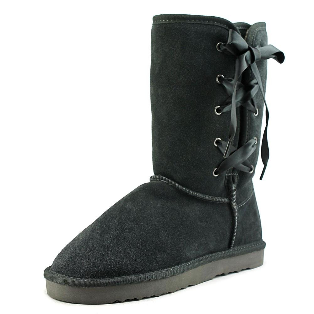 Style & Co. Womens Aliciah Leather Closed Toe Mid-Calf Cold, Grey, Size 9.0