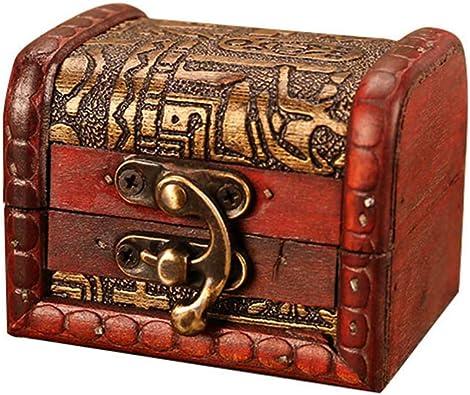 Coffret à Bijoux Boîte de Rangement avec Cadenas Vintage pour Ranger