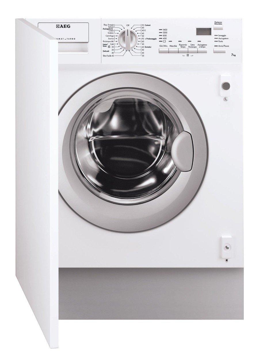 AEG - Lavasciuga integrata totale L 61470 WDBI con oblo' silver da 60cm Aeg Electrolux