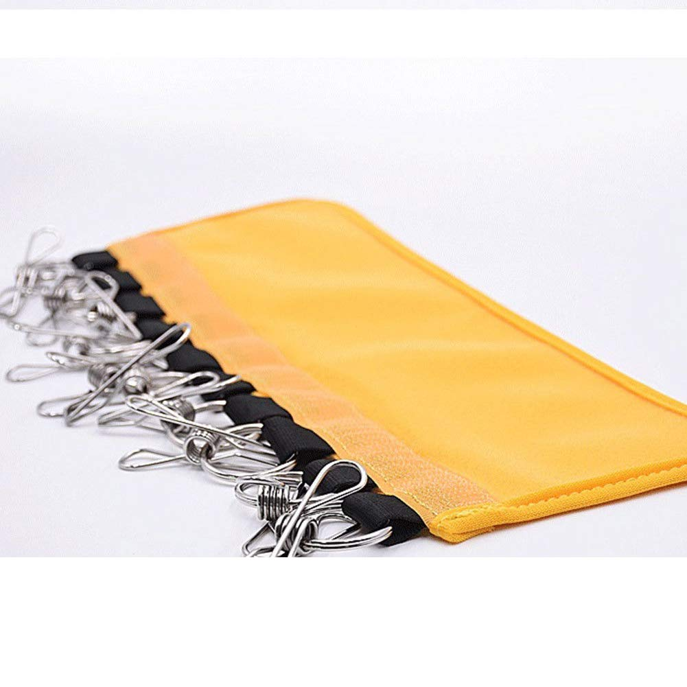 Bruukesh Foldable Hat Organizer Hanger Base Ball Cap Holder with 10 Clips for Home and Travel (Yellow)