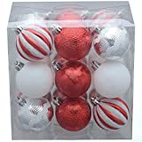Holiday Time 18-Pack Red/Silver/White Pumpkin-Style Ornaments