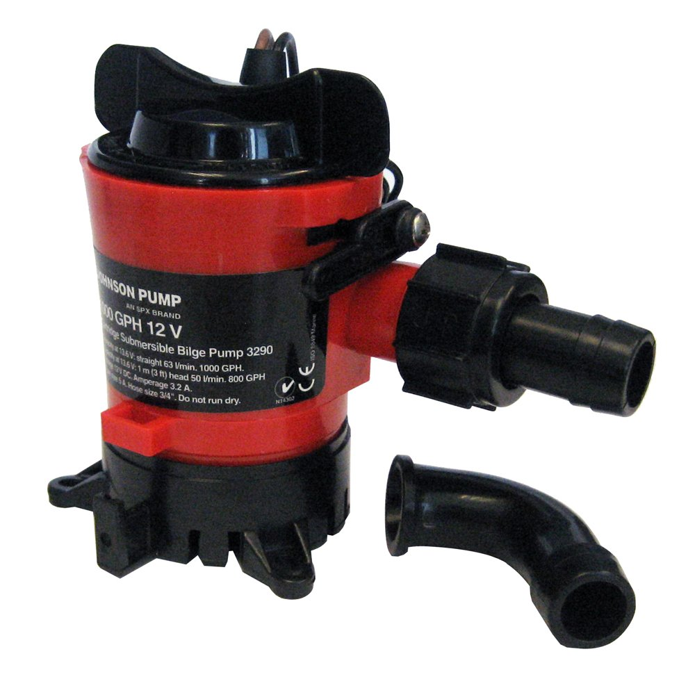Johnson Pump 189-32703 Pompe d'évacuation 2 839 l/h 19 mm 12 V 463322