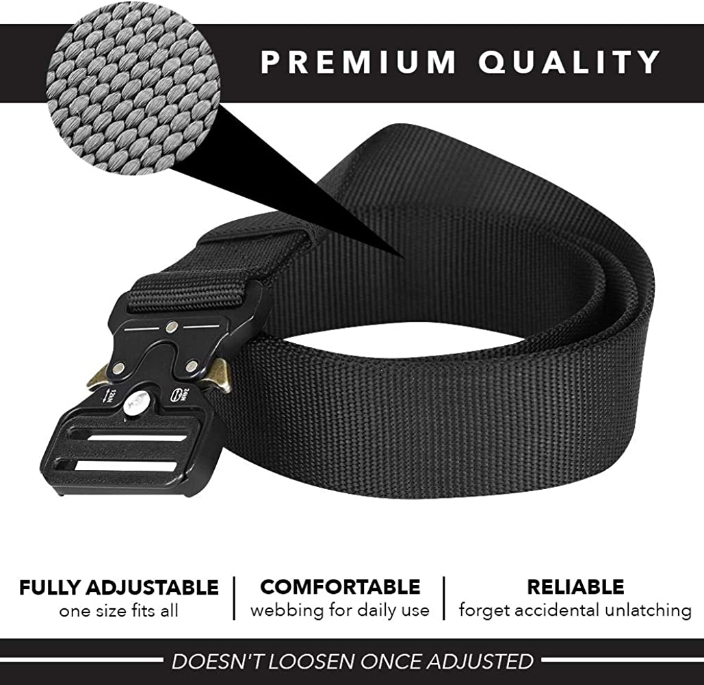 Quick Release Metal Buckle SKYISTHELIMIT Relentless Heavy Duty Tactical Belt