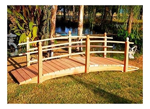 12 ft. Curved Double Rail Span Bridge (Curved Double Rail - Rail Double Garden Bridge