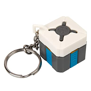 JINX Overwatch Loot Box Key Chain (1 inch square) Lights Up & Plays Game Sounds