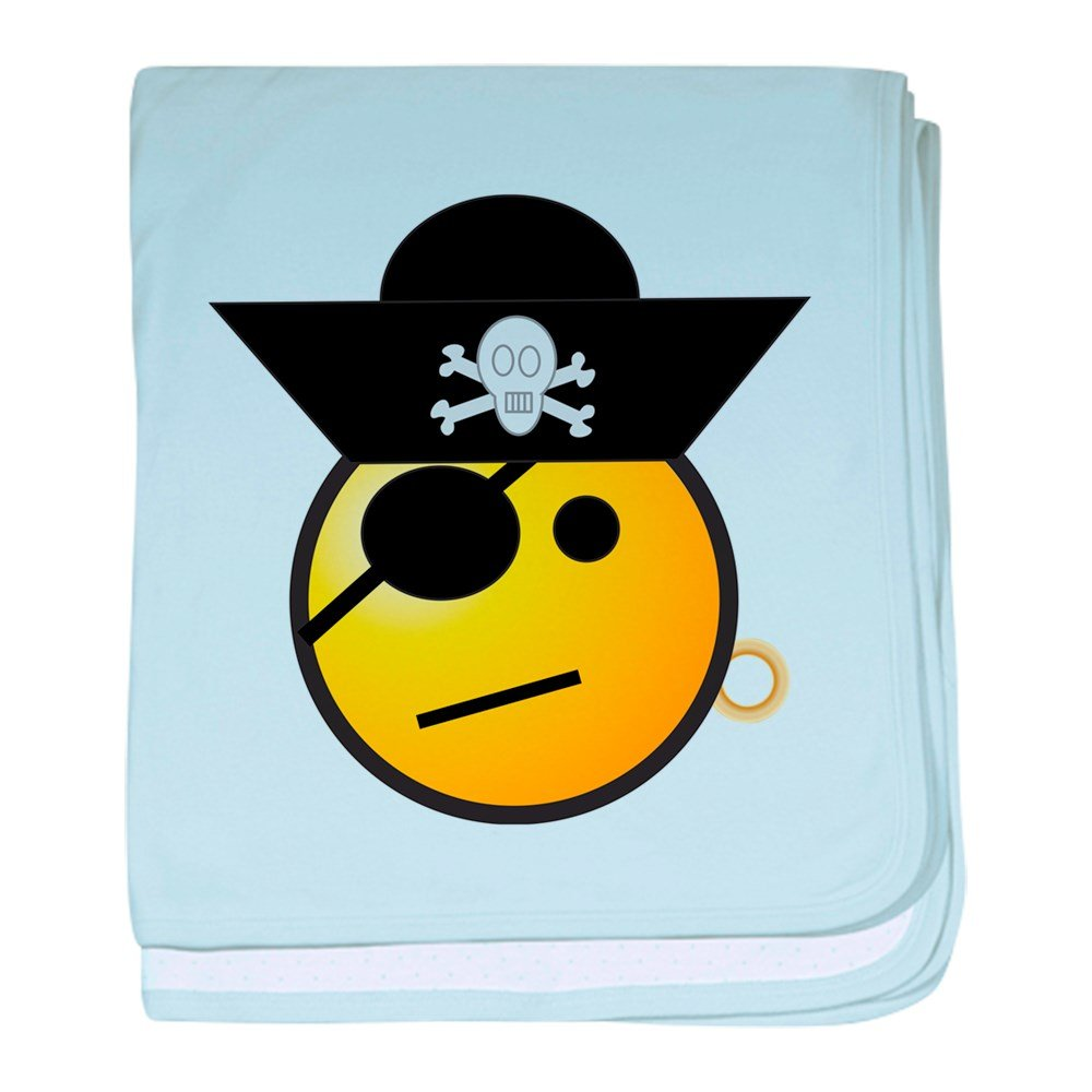 Truly Teague Baby Blanket Smiley Face Pirate - Sky Blue