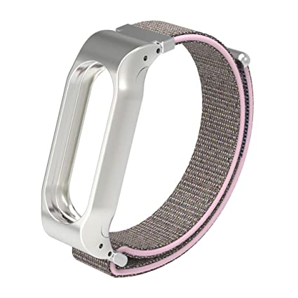 Cellfather Sport Loop Smart Wrist Band Nylon Strap for Xiaomi Mi Band 2  Pink Sand