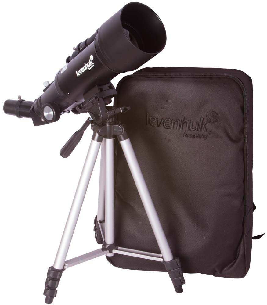 Levenhuk Skyline Portable Travel 70 Refractor Telescope with Backpack - Compact & Lightweight by Levenhuk