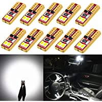 Alla Lighting 10pcs 2018 Newest Version Miniature T10...