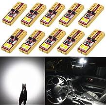 Alla Lighting 10pcs 2018 Newest Version Miniature T10 Wedge 2835-SMD High Power Super Bright 194 168 2825 175 W5W LED Bulb - 6000K Xenon White LED Lights Bulbs …