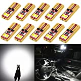 91 chevy lumina parts - Alla Lighting 10pcs 2018 Newest Version Miniature T10 Wedge 2835-SMD High Power Super Bright 194 168 2825 175 W5W LED Bulb -- 6000K Xenon White LED Lights Bulbs