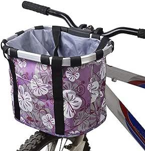 Bicicleta delantera cesta, plegable pequeño mascota gato perro ...